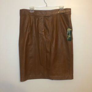 Ralph Lauren leather pencil skirt size 14 NWT